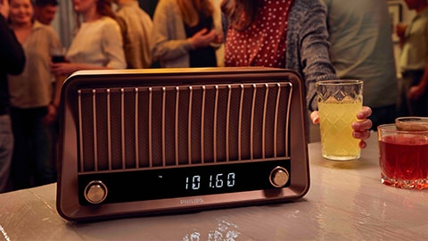 Altavoces Bluetooth vintage de diseño retro con radio de Philips - TAVS700